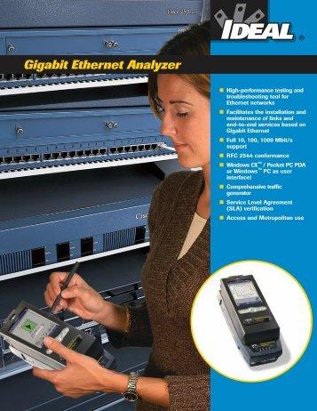 Gigabit Ethernet Analyzer Datasheet English