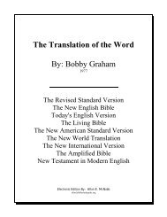 The Translation of the Word - Bible Study Guides