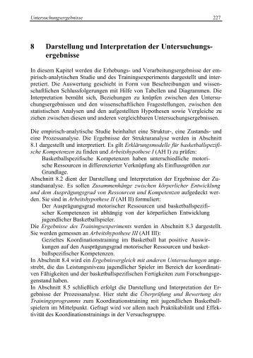 8 Darstellung und Interpretation der Untersuchungs- ergebnisse
