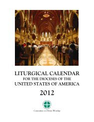 liturgical calendar - United States Conference of Catholic Bishops