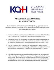 ANESTHESIA GAS MACHINE IN ICU PROTOCOL The initiation of ...
