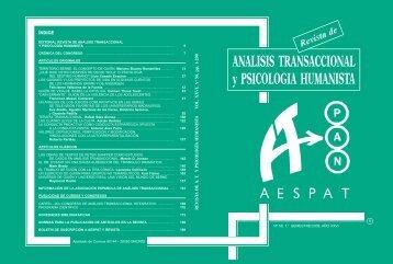 Revista de Análisis Transaccional y Psicología Humanista - aespat