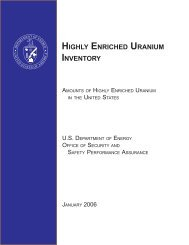 Highly Enriched Uranium Inventory