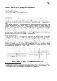 Sensor 2007 - Moving Magnet Technologies