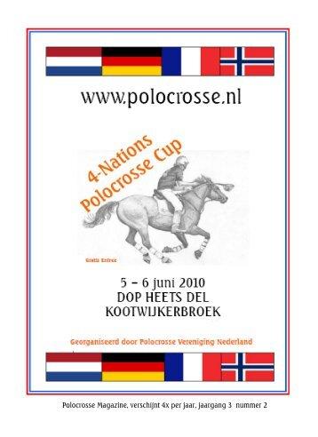 Polocrosse Magazine, verschijnt 4x per jaar, jaargang 3 nummer 2