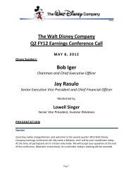 Bob Iger - The Walt Disney Company