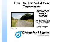 Lime Use for Soil and Base Improvement, Application Design ...