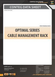 conteg data sheet optimal series cable management rack