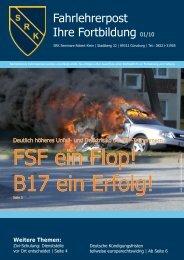 Fahrlehrerpost Ihre Fortbildung 01/10 - Klein, Robert