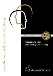 leergang voor strategisch management - Moonen en Partners