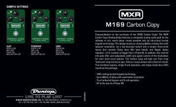 Carbon Copy Manual - Jim Dunlop