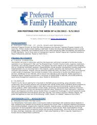 Page   1 JOB POSTINGS FOR THE WEEK OF 4/29/2013 - 5/5/2013 ...