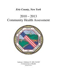 2010 – 2013 Community Health Assessment - Erie County