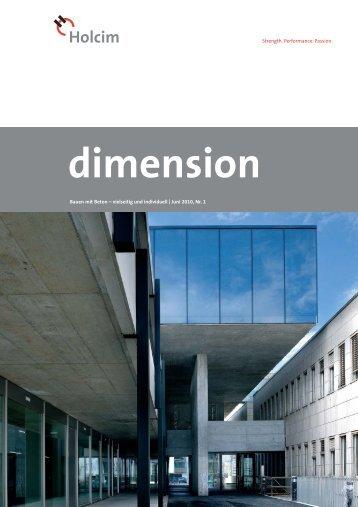 dimension 1/10 - Holcim Schweiz