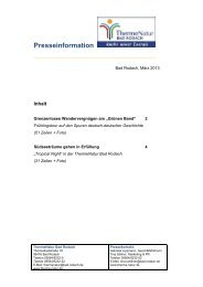Pressedienst März 2013 - therme Natur Bad Rodach