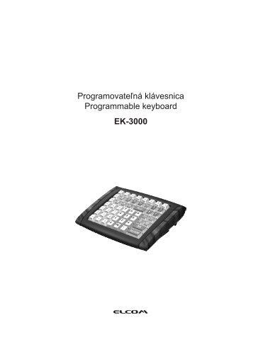 Programovateľná klávesnica Programmable keyboard EK-3000