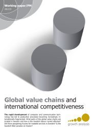 Global value chains and international competitiveness