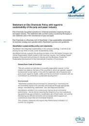 Statement on Eka Chemicals Policy with regard to ... - AkzoNobel