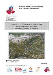 rapport Bon Nant - Fédération de pêche de la Haute-Savoie