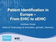 Patient Identification in Europe – From EHIC to ... - World of Health IT