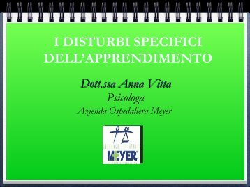 I disturbi specifici di apprendimento - Circolodidatticofiglinevaldarno.It