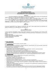 REGOLAMENTO INTERNO - Federcoop Nullo Baldini