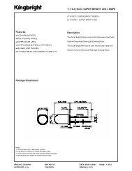 T-1 3/4 (5mm) SUPER BRIGHT LED LAMPS ... - TE-EPC-LPC
