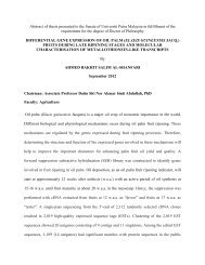 Differential gene expression of oil palm fruits during late ripening ...