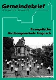 Gemeindebrief - Evangelische Kirchengemeinde Hegnach