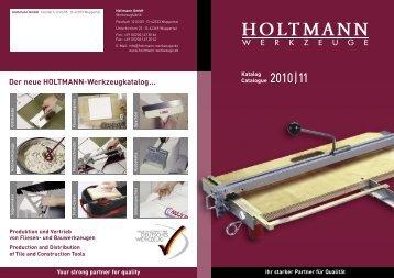 Der neue HOLTMANN-Werkzeugkatalog… Your strong partner for ...