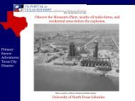 Texas City Disaster - University of North Texas