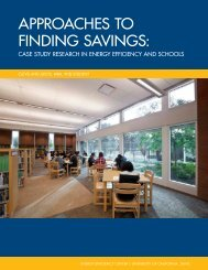approaches to finding savings - UC Davis Energy Efficiency Center