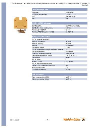 Technical Data Sheet - Farnell