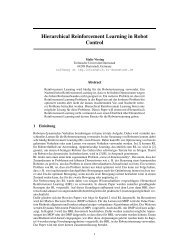 Hierarchical Reinforcement Learning in Robot Control - Intelligent ...
