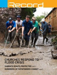 ChurChes respond to flood Crisis - Record