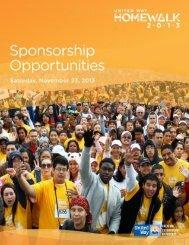 HomeWalk 2013 Sponsorship Package (pdf) - United Way of ...