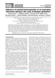 Influence of spatial heterogeneity on an emerging ... - Locean