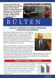 TÜROFED Ağustos Ayı Bülteni - Türkiye Otelciler Federasyonu