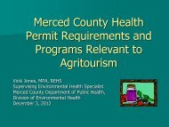 Merced County Health Permit Requirements and Programs ...