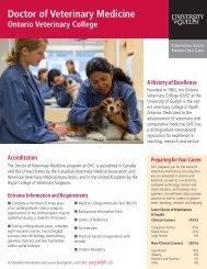 Doctor of Veterinary Medicine - Ontario Veterinary College ...