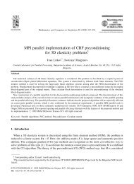 MPI parallel implementation of CBF preconditioning for 3D elasticity ...
