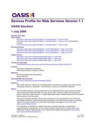 Devices Profile for Web Services Version 1.1 OASIS Standard 1 July ...