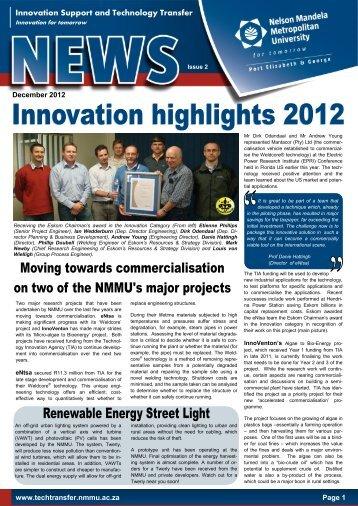 NMMU Innovation Highlights 2012 - Innovationeasterncape.co.za