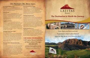 Activities Price List - PDF - Lajitas Golf Resort and Spa