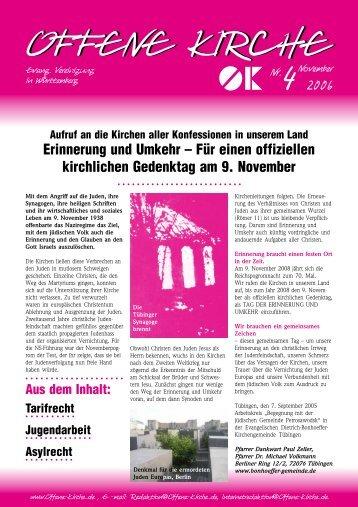 Heft 4/2006 - Offene Kirche Württemberg