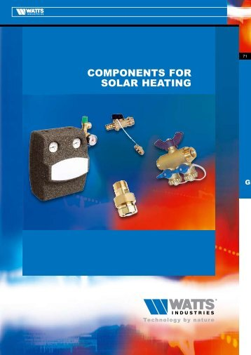 COMPONENTS FOR SOLAR HEATING - Watts Industries