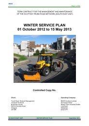 South East Unit Winter Service Plan 2012-13 - Transport Scotland
