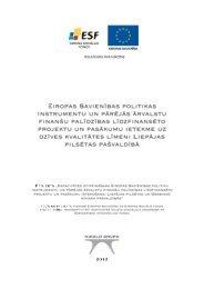 Pētījums par ES struktūrfondu un citu finanšu instrumentu finansēt[..]