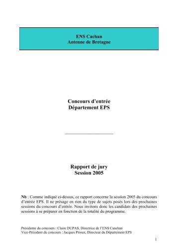Rapport Conc05.pdf - ENS de Cachan - Antenne de Bretagne