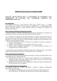 Regolamento per la concessione di contributi alle cooperative di ...